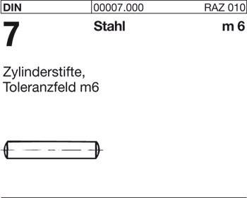 Kegelstifte DIN 1 Stahl B 1 x 12