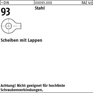 Scheiben DIN 93 Stahl 4,3