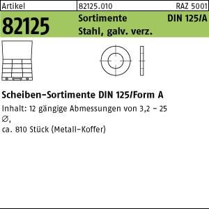 Sortimente Scheiben ART 82125 DIN 125 Sortiment Scheiben St. galv. verzinkt