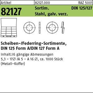 Sortimente Scheiben ART 82127 DIN 125/127 Sortiment St. Scheiben u. Federringe gal Zn 1 Stk.