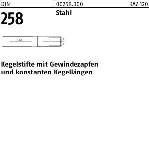 Kegelstifte DIN 258 Stahl 5 x 40