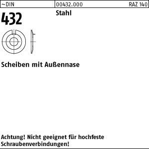 Scheiben DIN 432 Stahl 4,3