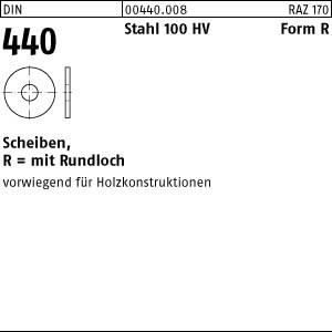 Scheiben DIN 440 Stahl R 5,5