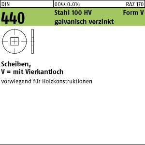 Scheiben DIN 440 Stahl V 6,6 galv. verzinkt gal Zn