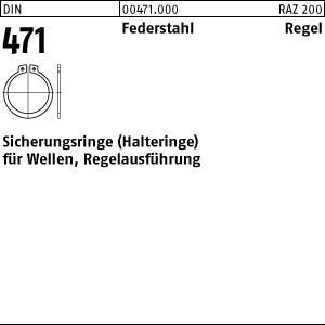 Sicherungsringe DIN 471 Federstahl 3 x 0,4