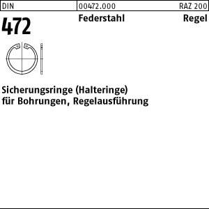 Sicherungsringe DIN 472 Federstahl 8 x 0,8