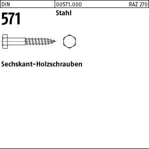 Sechskant-Holzschr. DIN 571 Stahl 6 x 35
