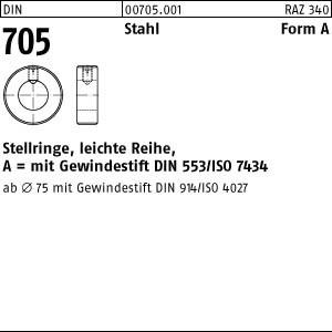 Stellringe DIN 705 Stahl A 4