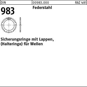 Sicherungsringe DIN 983 Federstahl 20 x 1,2