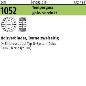 Holzverbinder DIN 1052 Holzverbinder GT Typ D, gal Zn, zweis., 50 ÜH gal Zn
