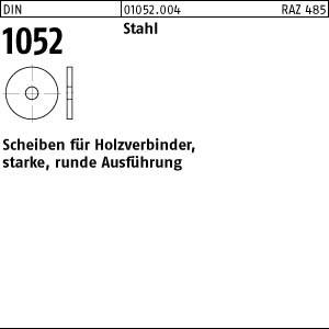 Scheiben DIN 1052 Scheiben f. Holzverb. St., 14 x 58 x 6 ÜH