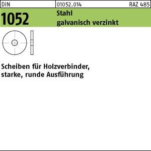 Scheiben DIN 1052 Scheiben f. Holzverb. St., gal Zn, 14 x 58 x 6 ÜH gal Zn