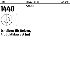 Scheiben für Bolzen DIN 1440 Stahl 3