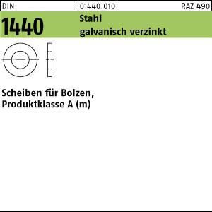 Scheiben für Bolzen DIN 1440 Stahl 33 galv. verzinkt gal Zn