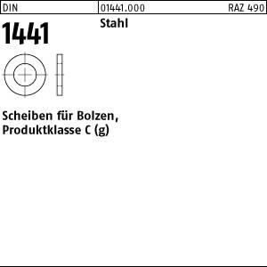 Scheiben für Bolzen DIN 1441 Stahl 8
