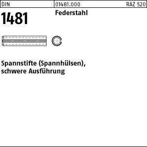 Spannstifte DIN 1481 Federstahl 1,5 x 5