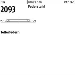 Tellerfedern DIN 2093 St. 8 x 3,2 x 0,3