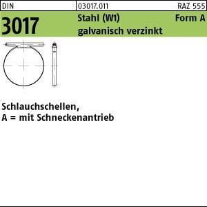 Schlauchschellen DIN 3017 St. A 8- 12/ 9 C7 -W1 galv. verzinkt Zn