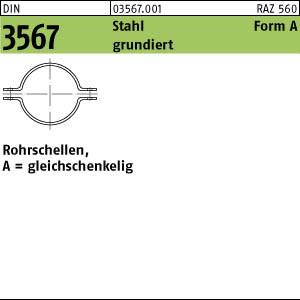 Rohrschellen DIN 3567 Stahl A 22 NW 15 grundiert Rohrsch.-Hälften