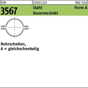 Rohrschellen DIN 3567 Stahl A 22 NW 15 feuerverzinkt Rohrsch.-Hälften tZn