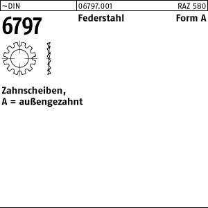 Zahnscheiben DIN 6797 Federstahl A 3,2