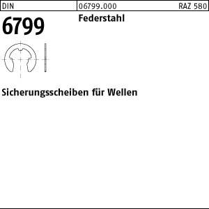 Sicherungsscheiben DIN 6799 Federstahl 1,5
