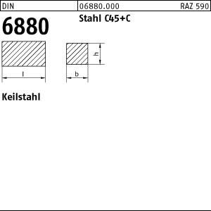 Keilstahl DIN 6880 Stahl (C45+C) 3 x 3 x 1000