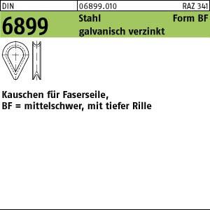 Kauschen DIN 6899 Stahl BF 3,5 / RW 4 galv. verzinkt gal Zn 100 Stk.