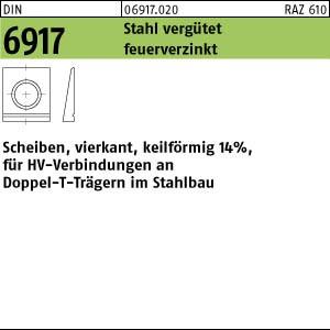 Scheiben DIN 6917 C 45 / ÜH 13 feuerverzinkt tZn