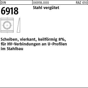 Scheiben DIN 6918 C 45 / ÜH 13 Neigung 8%