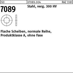 Scheiben ISO 7089 Stahl 4 ( 4,3 x 9 x 0,8) 300 HV