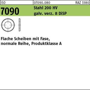 Scheiben ISO 7090 Stahl 5 ( 5,3 x 10 x 1 ) 200 HV, gal Zn DiSP gal ZnDi