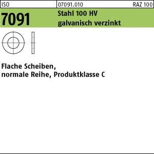 Scheiben ISO 7091 Stahl 5 galv. verzinkt gal Zn
