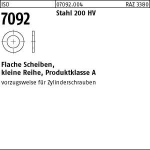 Scheiben ISO 7092 St. 2 ( 2,2 x 4,5 x 0,3) 200 HV