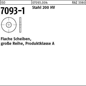 Scheiben ISO 7093 -1 Stahl 200 HV 3