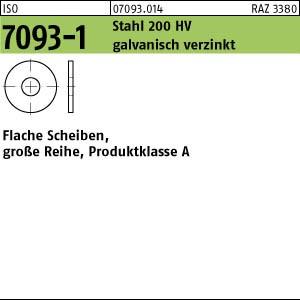 Scheiben ISO 7093 -1 Stahl 200 HV 3 galv. verzinkt gal Zn