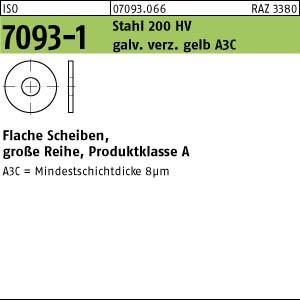 Scheiben ISO 7093 -1 Stahl 200 HV 3 galv. verzinkt gelb chrom. A3C gal ZnC