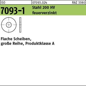 Scheiben ISO 7093 -1 Stahl 200 HV 6 feuerverzinkt tZn