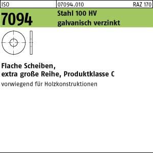 Scheiben ISO 7094 Stahl 5 galv. verzinkt gal Zn