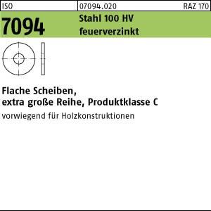Scheiben ISO 7094 Stahl 6 feuerverzinkt tZn