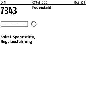 Spiral-Spannstifte DIN 7343 Federstahl 1,5 x 5