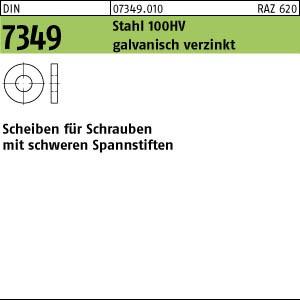 Scheiben DIN 7349 Stahl 100 HV 19 galv. verzinkt gal Zn