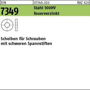 Scheiben DIN 7349 Stahl 100 HV 21,0 feuerverzinkt tZn