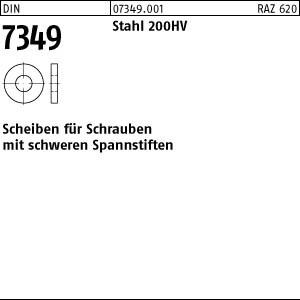 Scheiben DIN 7349 Stahl 200 HV 3,2