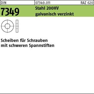 Scheiben DIN 7349 Stahl 200 HV 3,2 galv. verzinkt gal Zn