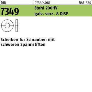 Scheiben DIN 7349 Stahl 200 HV 6,4 gal Zn 8 DiSP (Dickschichtpass.) gal ZnDi