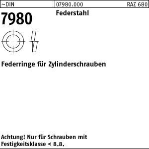 Federringe DIN 7980 Federstahl 3 1000 Stk.