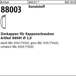 Zierkappen ART 88003 Kappen f. Kappenschr. weiß