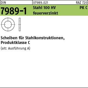 Scheiben,gestanzt DIN 7989 -1 Stahl 11 Pk C ÜH 11 x 20 x 8 feuerverzinkt tZn