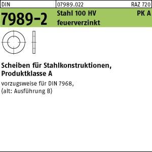 Scheiben DIN 7989 -2 Stahl 14 Pk A ÜH 13,5 x 24 x 8 feuerverzinkt tZn